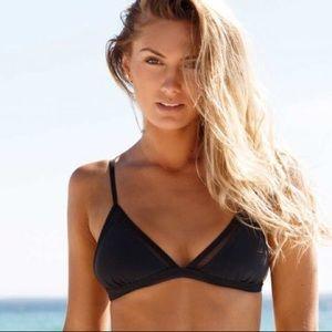Sheridyn swim Black mesh triangle bikini top